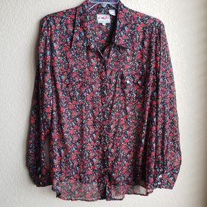 Roper Women's Plus Size Shirt Western Snap Floral